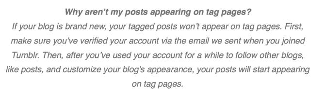 Por que minhas postagens não aparecem nas páginas de tags?