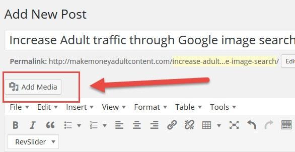 Aumente o tráfego adulto por meio da pesquisa de imagens do Google adicionar mídia